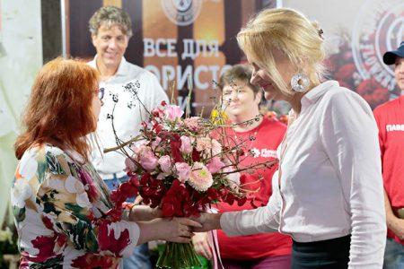 Russische bloemisten met Nederlandse bloemen