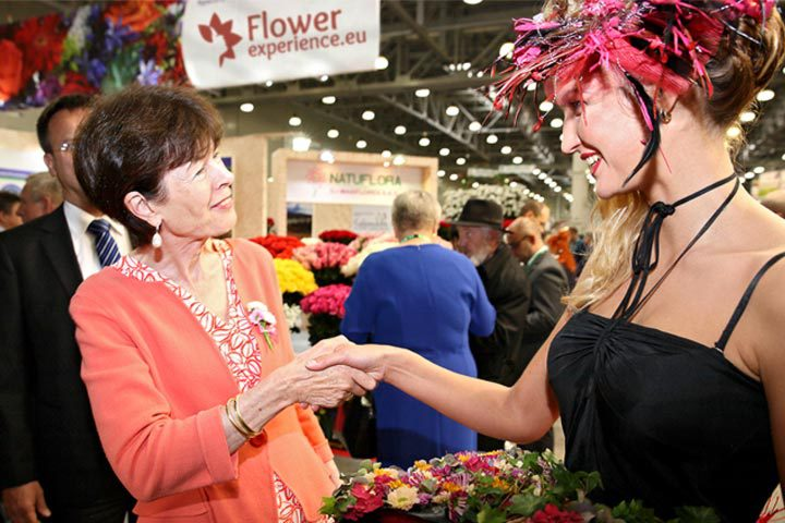 Sobolj op de Flowers Expo 2017 in Moskou